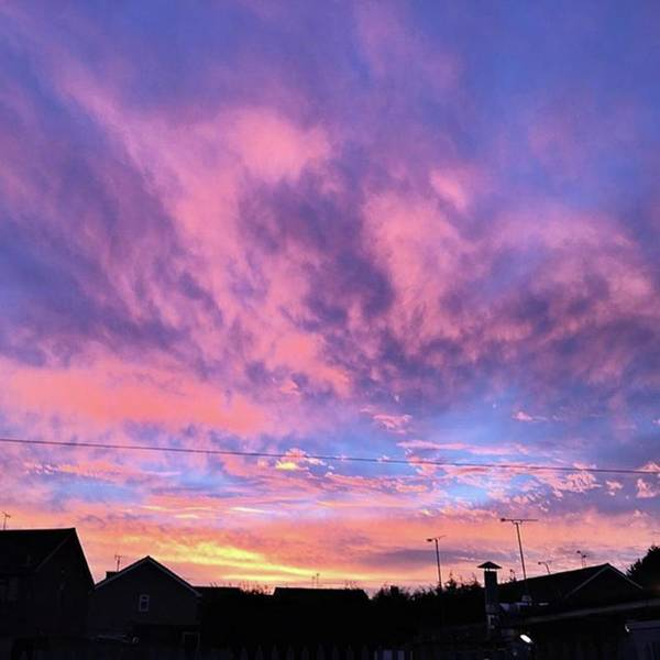 View Wall Art - Photograph - Tonight's Sunset Over Tesco :) #view by John Edwards