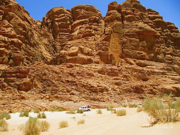 Digital Art - Tonka Truck Wadi Rum by Donna L Munro