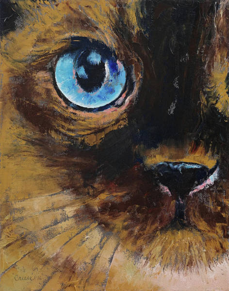 Siamese Cat Painting - Tonkinese by Michael Creese