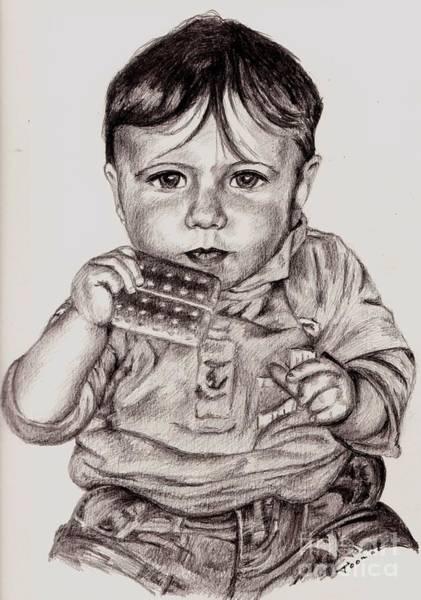 Drawing - Tonnie by Toon De Zwart