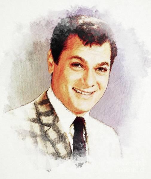 Tony Digital Art - Tony Curtis, Vintage Actor by John Springfield
