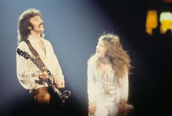 Photograph - Tony Iommi And Ozzy Osbourne Of Black Sabbath by Rich Fuscia