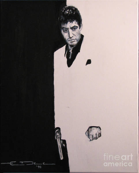 Painting - Tony Montana - Scarface by Eric Dee