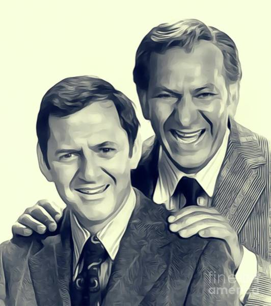 Tony Digital Art - Tony Randall And Jack Klugman by John Springfield