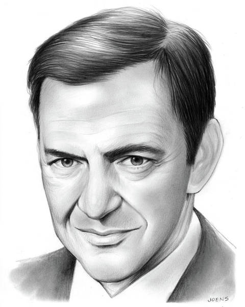 Drawing - Tony Randall by Greg Joens