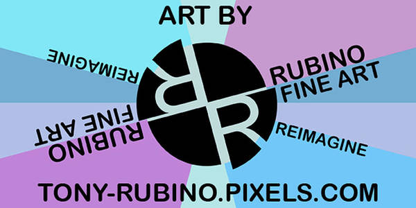Painting - Tony Rubino Fine Art Logo With Website by Tony Rubino