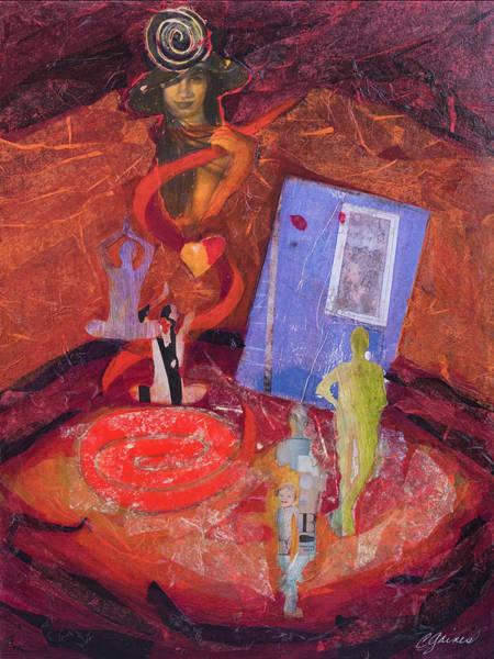 Sacred Heart Mixed Media - Too Many Hats by Cheryl Gaines