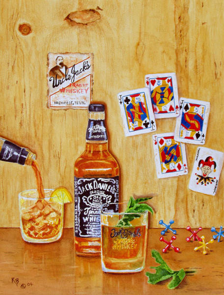 Daniel Wall Art - Painting - Too Many Jacks by Karen Fleschler