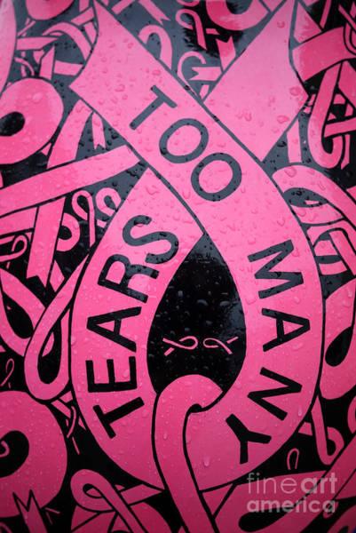 Pink Ribbon Wall Art - Photograph - Too Many Tears by Edward Fielding