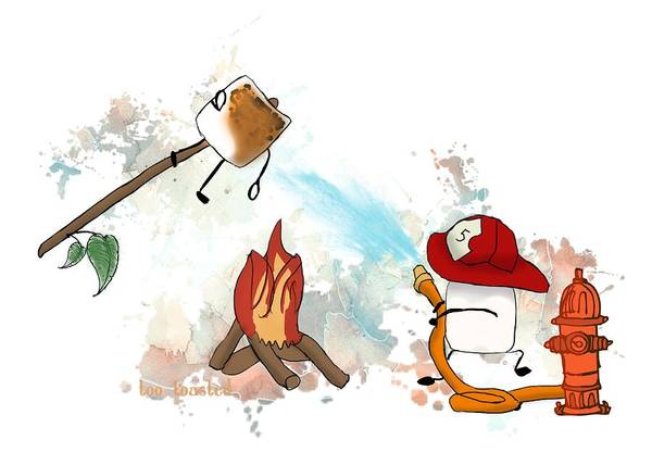 Digital Art - Too Toasted Illustrated by Heather Applegate