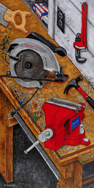 Wall Art - Painting - Tool Time by Rich Travis