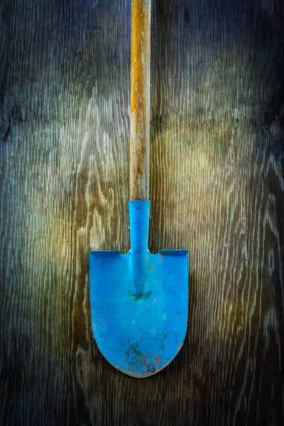 Shovel Photograph - Tools On Wood 23 by Yo Pedro