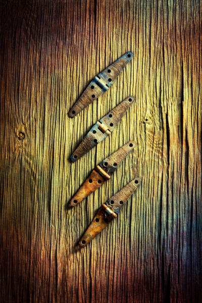 Hinges Photograph - Tools On Wood 45 by YoPedro