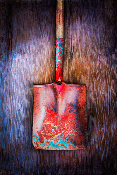 Wrought Iron Photograph - Tools On Wood 47 by YoPedro