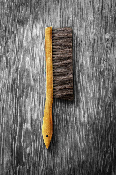 Wall Art - Photograph - Tools On Wood 52 On Bw by YoPedro