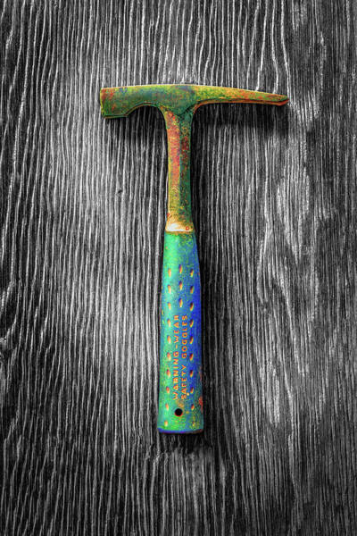 Wall Art - Photograph - Tools On Wood 63 On Bw by YoPedro