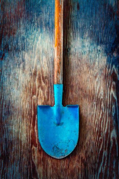Shovel Photograph - Tools On Wood 72 by YoPedro