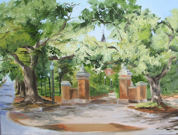 Toomer Wall Art - Painting - Toomers Trees II by Jill Holt