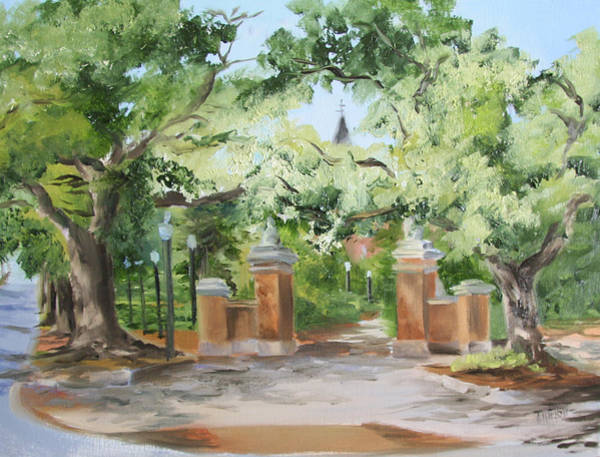 Toomer Wall Art - Painting - Toomer's Trees In Plein Air II by Jill Holt