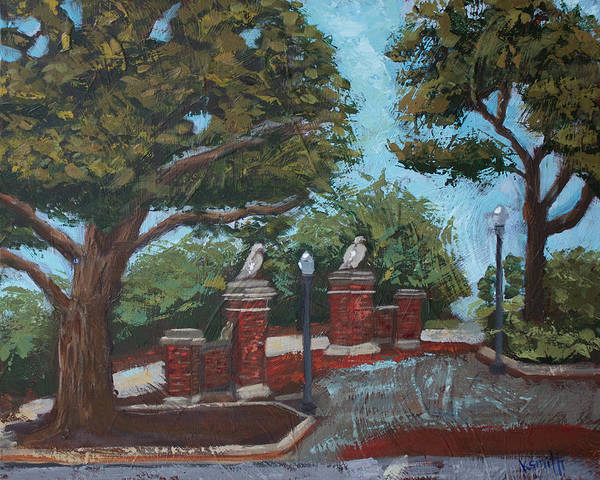 Toomer Wall Art - Painting - Toomer's Trees by Karen Smith