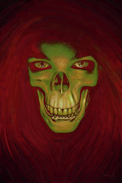 Digital Art - Toothy Grin by Matt Lindley