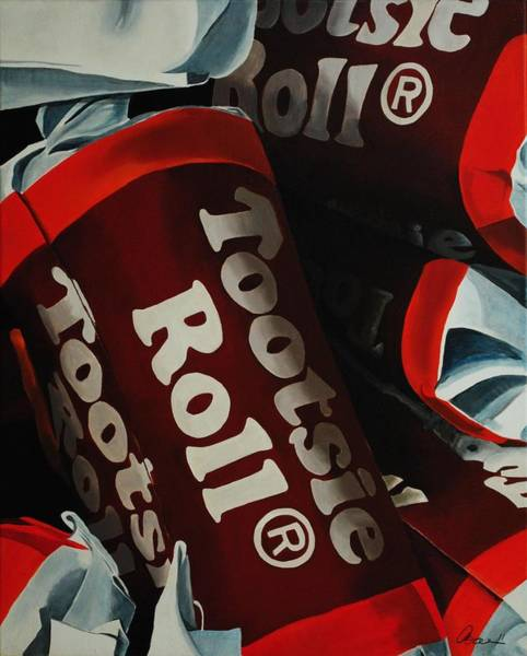 Candy Painting - Tootsie Roll by Andrea Nally