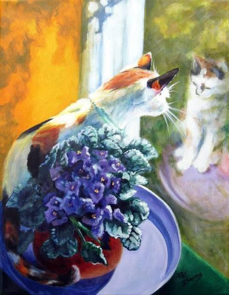 Calico Kitten Wall Art - Painting - Tootsie Too by Pat Burns