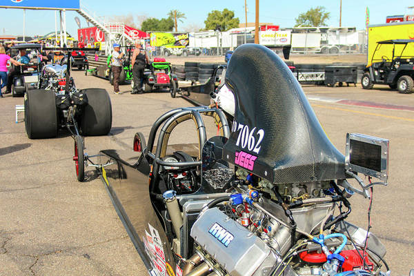 Carbon Fiber Photograph - Top/dragster In Staging Lanes by Darrell Foster