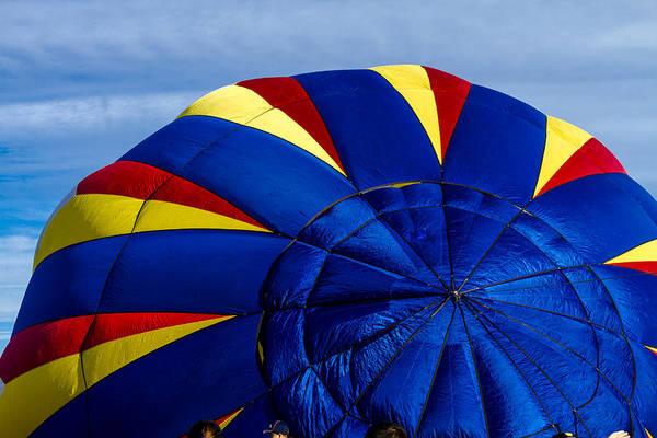 Photograph - Top Of A Hot Air Balloon by Teri Virbickis