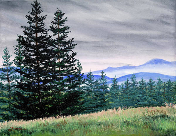 Wall Art - Painting - Top Of Bald Hill by Laura Iverson