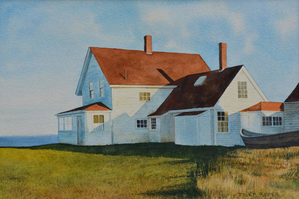 Painting - Top Of Monhegan by Tyler Ryder
