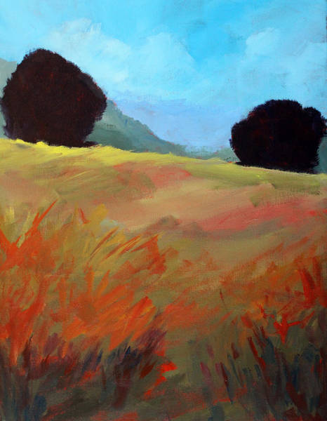 Wall Art - Painting - Top Of The Hill by Nancy Merkle