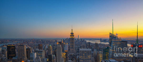 Mv Photograph - Top Of The Rock Sunset by Michael Ver Sprill