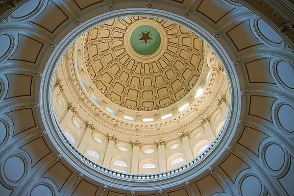 Photograph - Top Of The Texas Capital Rotunda by Lynn Bauer