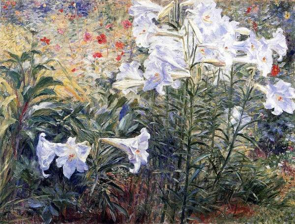 Wall Art - Painting - Top Quality Art - Easter Lilies by Kuroda Seiki