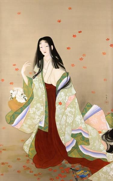 Kimono Digital Art - Top Quality Art - Hanagatami by Uemura Shoen