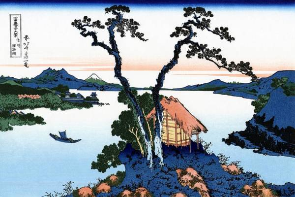 Area Painting - Top Quality Art - Mt,fuji36view-shinshu Suwako by Katsushika Hokusai