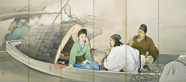 Wall Art - Painting - Top Quality Art - Song Of The Lute #1 by Hashimoto Kansetsu
