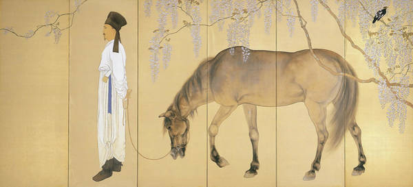 Wall Art - Painting - Top Quality Art - Visiting A Hermit #1 by Hashimoto Kansetsu