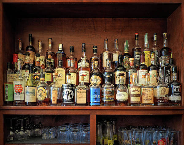 Photograph - Top Shelf Whiskey Selection by Bill Swartwout Photography