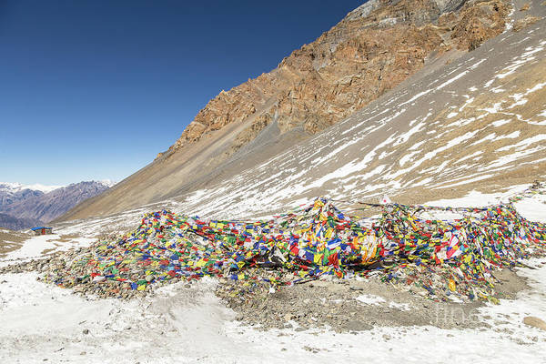Photograph - Top The Thorung La Pass On The Annapurna Circuit Trek In Nepal by Didier Marti