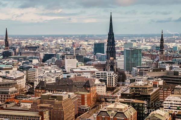 Photograph - Top View Of Hamburg by Marina Usmanskaya