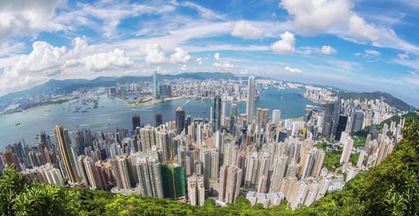 Hongkong Photograph - Top View Of Hong Kong City by Anek Suwannaphoom