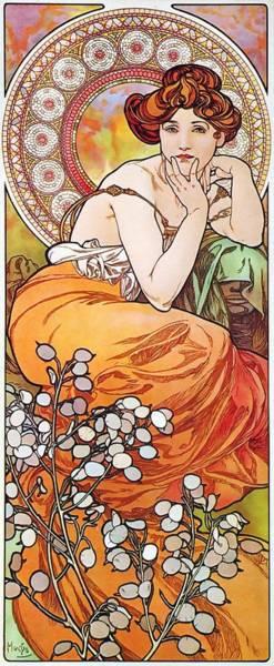 Painting - Topaz by Alphonse Mucha
