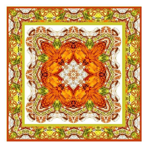 Digital Art - Topaz And Peridot Bling Kaleidoscope by Charmaine Zoe