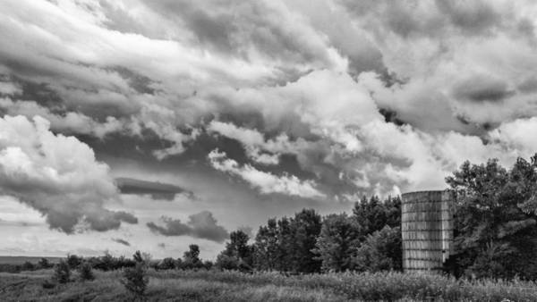 Photograph - Topless Silo Under The Clouds by Guy Whiteley