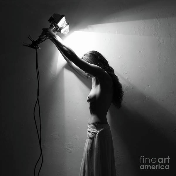 Photograph - Topless Woman With Torches by Clayton Bastiani