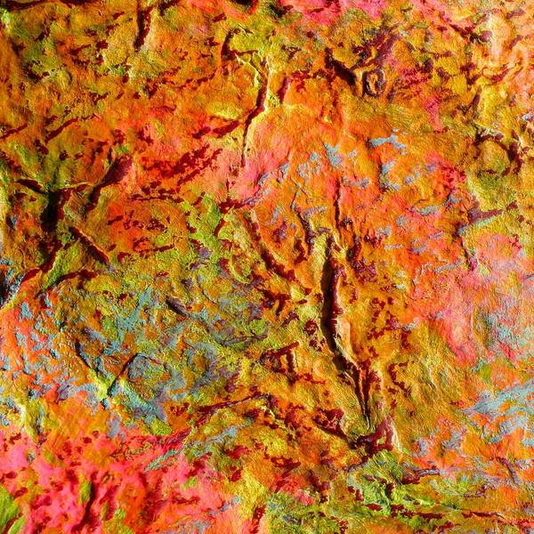 Topographical Map Color Poem Art Print