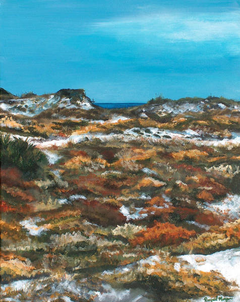 Gulf State Park Painting - Topsail Hill Dunes by Racquel Morgan