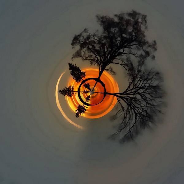 Photograph - Topsy Turvy World - Sunset by Andrea Kollo